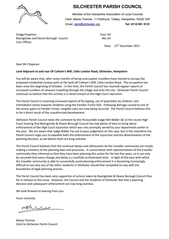silchester parish council letter